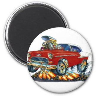 1955 Chevy Belair Maroon Car 6 Cm Round Magnet