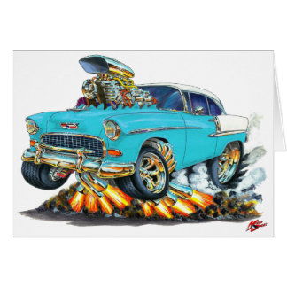 1955 Chevy Belair Turquoise Car Card