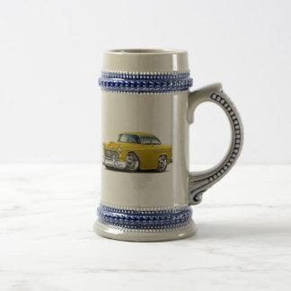 1955 Chevy Belair Yellow Car Beer Stein