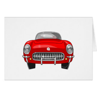 1955 Chevy Corvette Front View Card