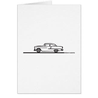 1955 Chevy Hardtop Post Greeting Card