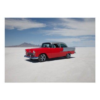 1955 chevy hot rod tri five poster