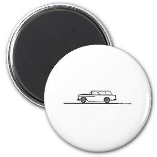 1955 Chevy Nomad 6 Cm Round Magnet