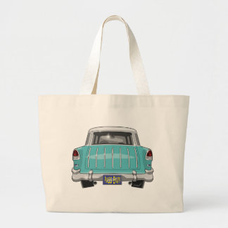 1955 Chevy Nomad Large Tote Bag