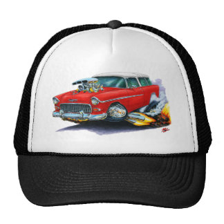 1955 Chevy Nomad Red Car Cap