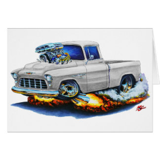 1955 Chevy Pickup White Truck Card