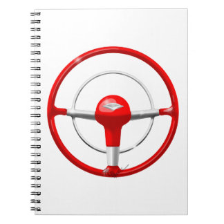 1955 Chevy Red Steering Wheel Note Books