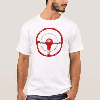 1955 Chevy Red Steering Wheel T-Shirt