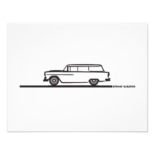 1955 Chevy Station Wagon Invite