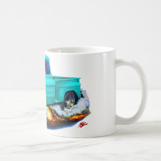 1955 Chevy Stepside Pickup Turquoise Truck Coffee Mug