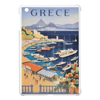 1955 Greece Athens Bay of Castella Travel Poster Cover For The iPad Mini