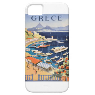 1955 Greece Athens Bay of Castella Travel Poster iPhone 5 Cover