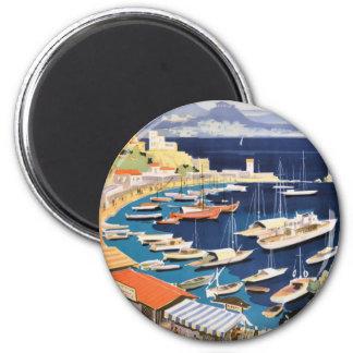 1955 Greece Athens Bay of Castella Travel Poster Magnet