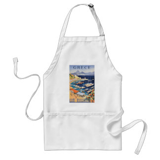 1955 Greece Athens Bay of Castella Travel Poster Standard Apron