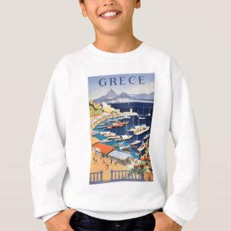1955 Greece Athens Bay of Castella Travel Poster Sweatshirt