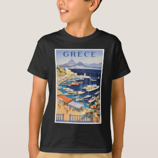 1955 Greece Athens Bay of Castella Travel Poster T-Shirt