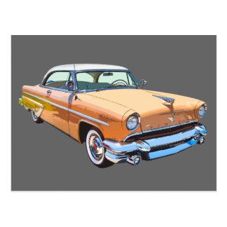 1955 Lincoln Capri Luxury Car Postcard