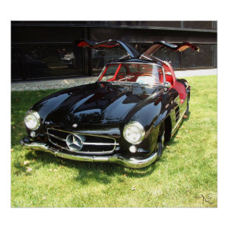 1955 Mercedes Benz 300SL Gullwing Poster