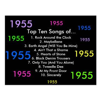 1955 Songs Postcard