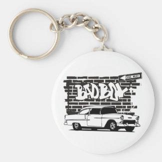 1955 Vintage Chevy Bad Boy Basic Round Button Key Ring