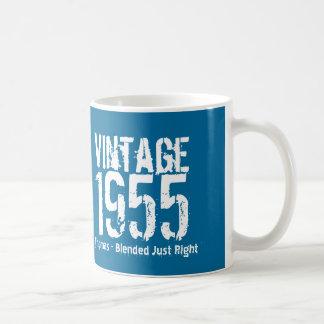 1955 Vintage Year or Any Birthday Blue White M55A Coffee Mug
