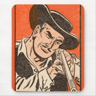 1955 Western bad guy with rifle from Billy the Kid Mouse Pad