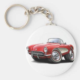 1956-57 Corvette Red Car Key Ring