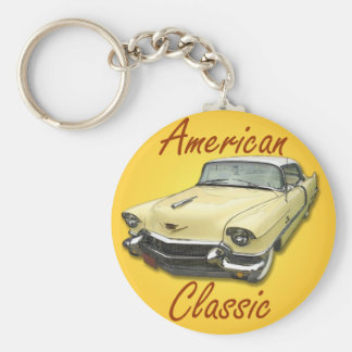 1956 Cadillac DeVille Basic Round Button Key Ring