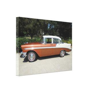 1956 Chevrolet Bel-Air 4 Door Sedan Canvas Print