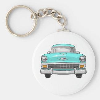 1956 Chevrolet Bel Air Basic Round Button Key Ring