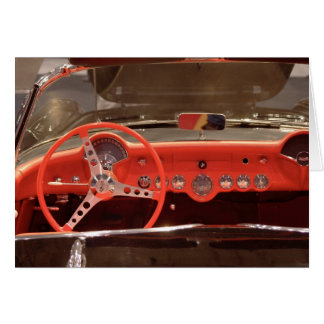 1956 Chevrolet Corvette Steering Wheel and Dash Greeting Card