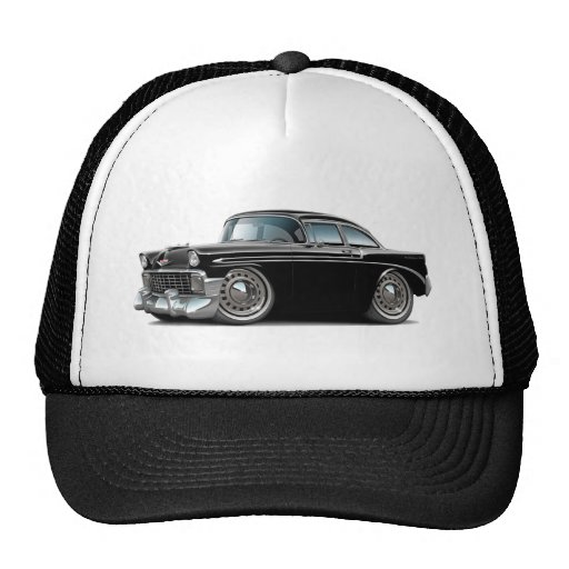 1956 Chevy Belair Black Car Mesh Hat
