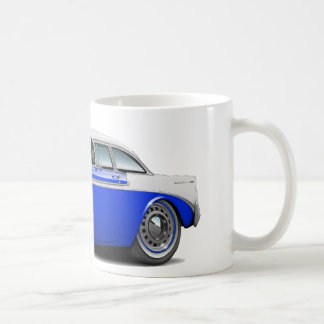 1956 Chevy Belair Blue-White Car Coffee Mug