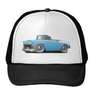 1956 Chevy Belair Lt Blue-White Convertible Cap