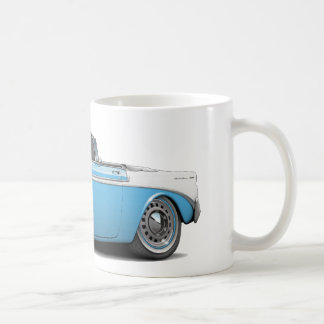 1956 Chevy Belair Lt Blue-White Convertible Coffee Mug