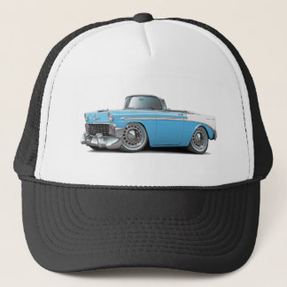 1956 Chevy Belair Lt Blue-White Convertible Trucker Hat