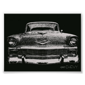 1956 CHEVY SKETCH POSTER