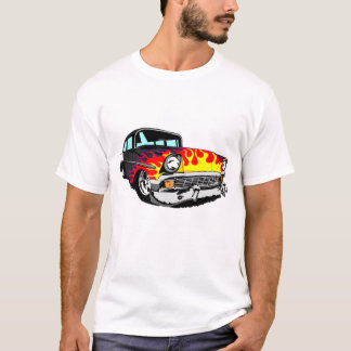 1956 Flamed Bel Air in Black T-Shirt