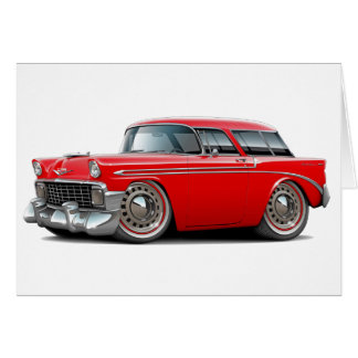 1956 Nomad Red Car Card