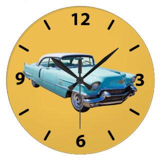 1956 Sedan Deville Cadillac Luxury Car Large Clock