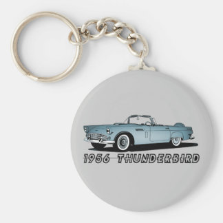 1956 Thunderbird Basic Round Button Key Ring