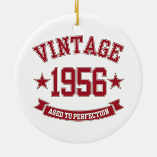1956 Vintage Aged to Perfection Christmas Ornaments