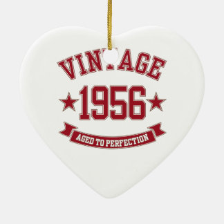 1956 Vintage Aged to Perfection Ceramic Heart Decoration