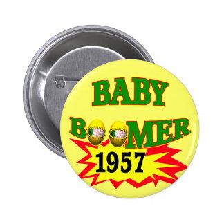 1957 Baby Boomer 6 Cm Round Badge