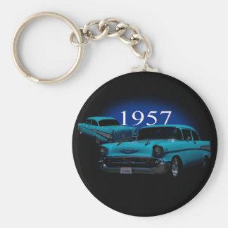 1957 BASIC ROUND BUTTON KEY RING