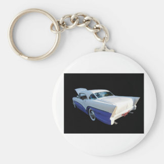 1957 Buick side view Basic Round Button Key Ring
