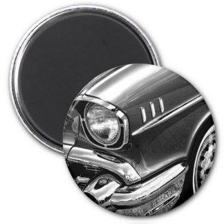 1957 Chevrolet Bel Air Black & White 6 Cm Round Magnet