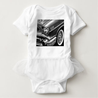 1957 Chevrolet Bel Air Black & White Baby Bodysuit