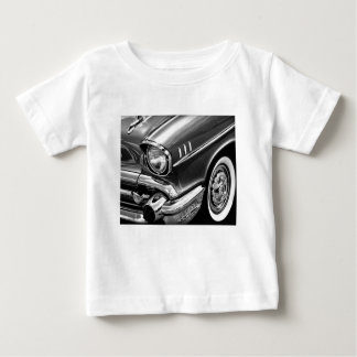 1957 Chevrolet Bel Air Black & White Baby T-Shirt