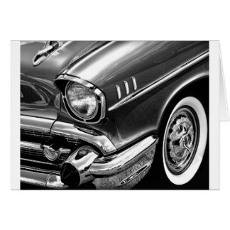 1957 Chevrolet Bel Air Black & White Card